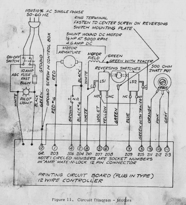 bridgeport power feed motor wiring diagram bridgeport discover bridgeport feed controller